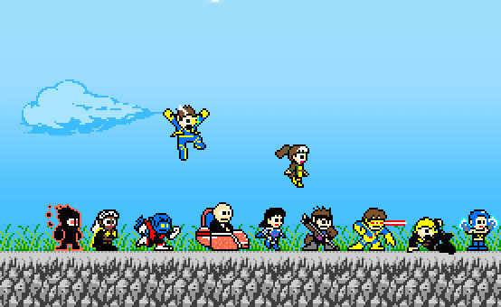 xmen megaman style
