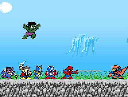 avengers megaman style