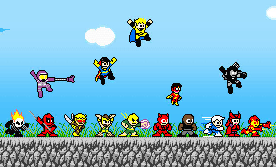 Superheroes megaman style