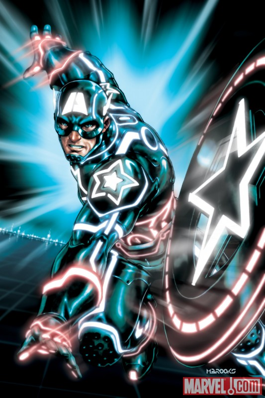 Captain America Tron