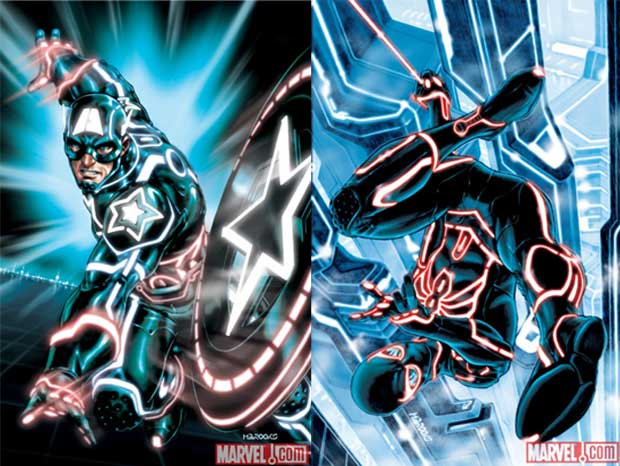 Marvel Tron Variant Comic Covers