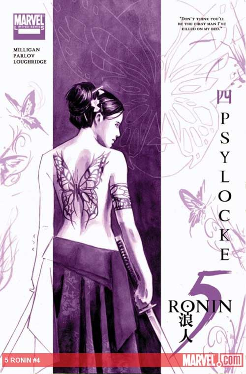 marvel Psylocke 5 ronin variant cover