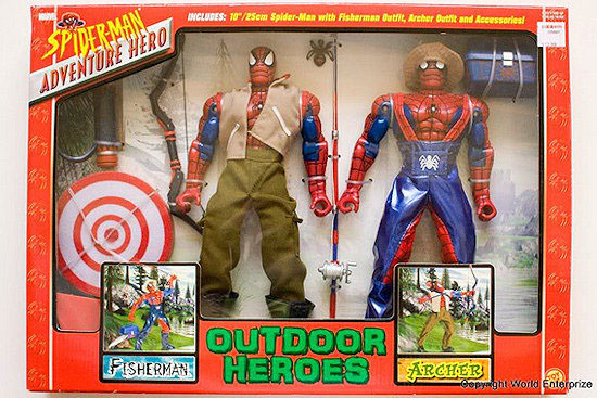 Spiderman fisherman and Archer