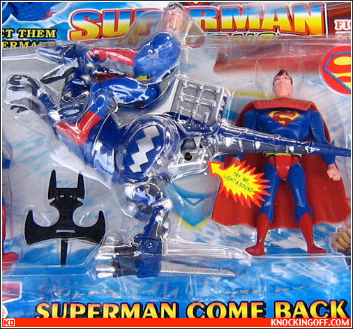 Superman returns on a Dinosaur